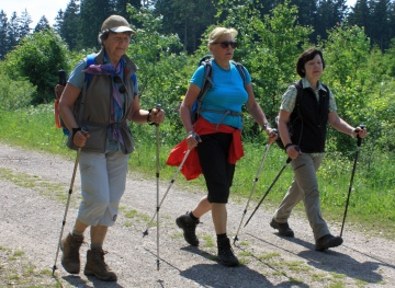 Eine Wanderung ist gesund und belebt den Geist