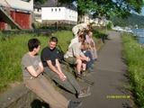 Pause am Ufer des Rheins