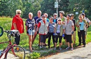 Radgruppe - unterwegs