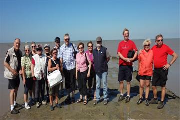 Gruppenbild auf der Landzunge (Foto: Ch. Buchbinder)