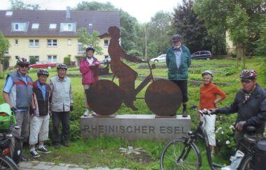 Radwanderung auf dem Rheinischen Esel (Foto: K.H. van Haut)