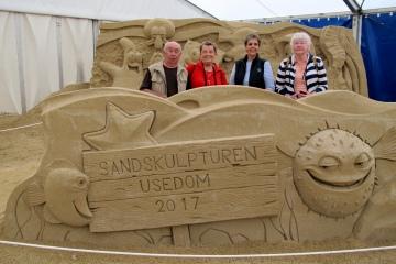 Urlaubsreise Usedom - Sandskulpturenausstellung bei Ahlbeck