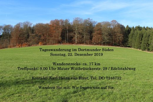 Tageswanderung am 4. Advent