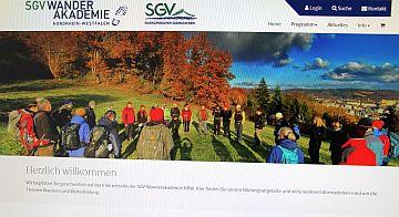 Neuer Internetauftritt der SGV-Wanderakademie