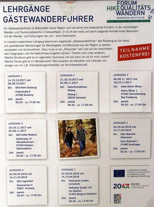 SGV Wanderakademie NRW ist eine ankerkannte Einrichtung der Weiterbildung nach WbG-NW