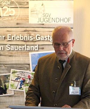 Dankesworte durch SGV-Vizepräsident Harald Kahlert
