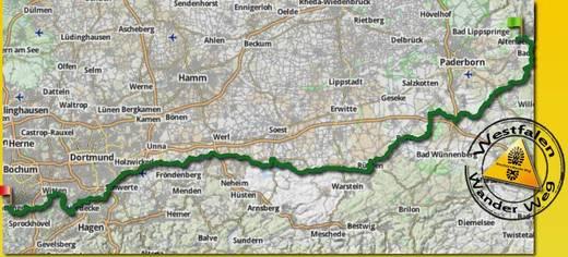 Karte Westfalenwandrweg