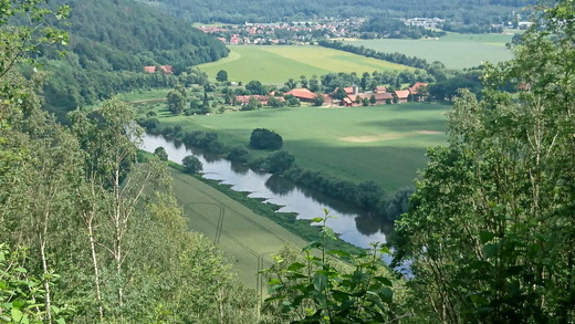 Wesertal nördl. von Hann. Münden (H. J. Meyer ©)