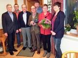 Die Jubilare und der neugewählte Vorstand  JHV 2018