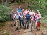 Wandergruppe in dem Pfälzer Wald 2018