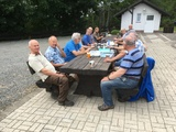 Rast am Schützenhaus Röhrenspring auf der Männerwanderung 2020