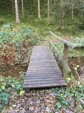Brücke in Endorferhütte am Wanderweg A4 Parkplatz Gehren