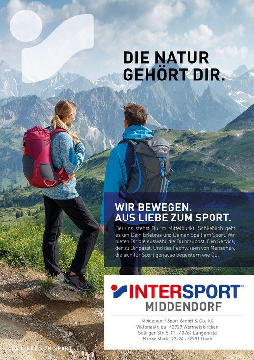 Intersport MIDDENDORF Sport GmbH & Co.KG, Neuer Markt 22-24, 42781 Haan, Tel. 02129/3771400