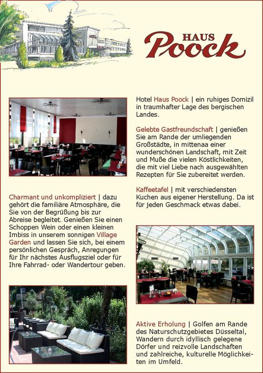 Hotel Haus Poock - Osterholzstr. 83 - 42781 Haan - Tel. 02104-96920