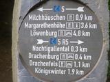 6.6.15  Wegweiser im Siebengebirge