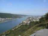 28.08.15 Mit Margarete nach Leutersdorf/ Der Rhein von oben gesehen