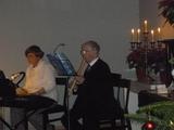 6.12.15 Weihnachtsfeier, Therese und Günter