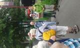 4.06.16 Zum Schloss Drachenburg, Begrüßung durch WF Margarete