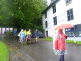 25.06.16 Bensberger Schlossweg, nur Regen,  Regen ...