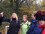 18.11.17 Start in Essen-Kupferdreh, Begrüßung durch Wanderführerin Vera