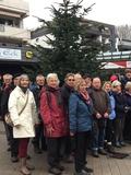 30.12.17 Ziel unserer Jahresabschlusswanderung auf dem Hochdahler Markt erreicht