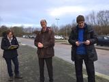 06.01.18 Wanderführer Reinhard begrüßt die Gruppe zur traditionellen Grünkohl-Wanderung.