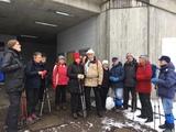 03.03.18 Wanderführerin Vera begrüßt ihre Gruppe zur Wanderung Auf dem Bergischen Weg.