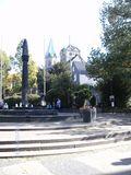 06.10.2018 Blick auf den Marktplatz in Essen Werden. Im Hintergrund die schöne Kirche.