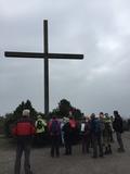 06.04.19 Das Gipfelkreuz mit Altar auf der Halde Haniel