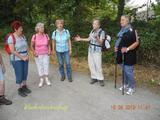 10.08.19 Forellenessen,Begrüßung durch Wanderführerin Karin