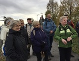 23.11.19 Begrüßung durch Wanderführer Wilfried zur Wanderung von Velbert-Tönisheide nach Mettmann.