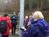 30.11.19 Wanderführer Karl-Heinz begrüßt die Gruppe zur Wanderung von Kettwig nach Mühlheim-Selbeck