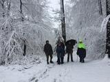 26.02.20 So eine tolle Schneewanderung auf dem Röntgenweg hatten wir nicht erwartet. Wanderführer Klaus hatte sogar den Schnee bestellt.