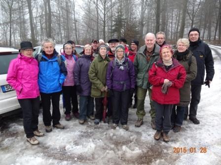 Wandergruppe Witting - Tagestour 28.01.2015 - Nuttlar/Altenbürener Mühle