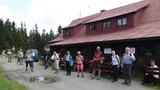 Rast an der Berghütte Čantoryje (Tschechien)
