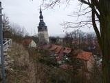 Der Kirchturm von Bad Frankenhausen