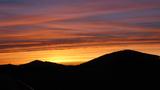 Abendhimmel auf der Heimfahrt von Wallen
