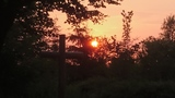 Sonnenuntergang an der Krähenbrinke-Hütte