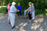 23.06.2020: Gutes Wetter begleitete die Wanderer des SGV Meinerzhagen bei der ersten Wanderung nach der Lockerung der Corona-Maßnahmen auf dem Weg von Schallershaus über Badinghagen und die Hexeneiche zurück.