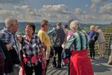 31.08.2021: «Höhepunkt» der Wanderung an diesem Dienstag war die Aussichtsplattform an der SGV-Hütte 90 m oberhalb der Biggetalsperre.