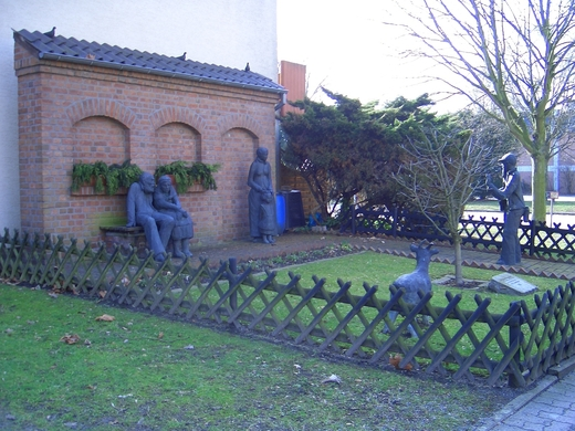 Bergmannsleben - Denkmal von Professor Kampmann