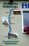 01 Start der Wanderung in Pirna - Abbildung an einer Hauswand