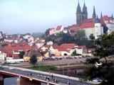 17 Blick über die Elbe auf Meißen mit Albrechtsburg und Dom