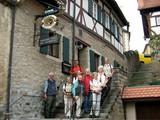 05 Treppe vor dem Schlossbräu in Creglingen