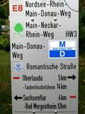 13 Kreuzung von Hauptwanderwegen vor Oberaula