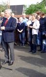 06 der Kamener Bürgermeister Herman Hupe gibt das Komando