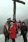14 endlich am Gipfelkreuz