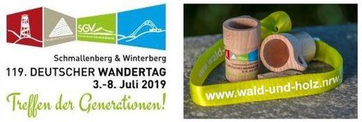 Deutscher Wandertag 2019  /  Wandertags-Plakette