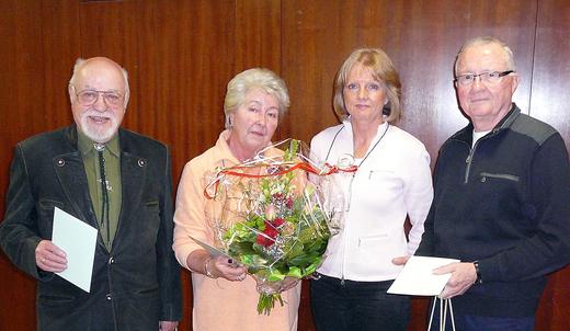 Jubilare Helga und Herbert Steinfort, Wolfgang Vignold