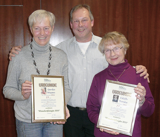Die Wanderköniginnen Gerda Weyen und Edith Bonke